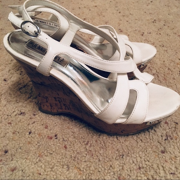 3ce52884854 White Jennifer Lopez Wedges